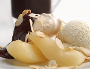 Cinnamon Meringues with Pears and Chocolate