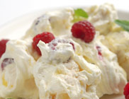 Lemon Curd and Raspberry Mess